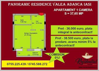 Apartament 1 camera - 37,65 mp