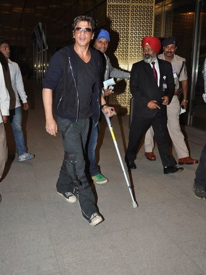 Shahrukh Khan departs for Malaysia Concert