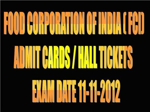 ... DOWNLOAD AT WWW.SSCSR.GOV.IN | SSC FCI HALL TICKETS / ADMIT CARDS 2012