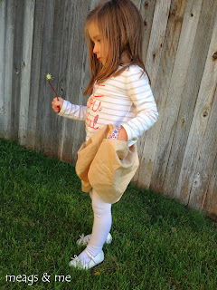 meags and me: toddler skirt with pockets tutorial