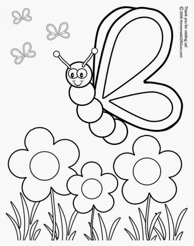Free Coloring Pages For Preschoolers Spring : Free printable spring coloring pages sheet