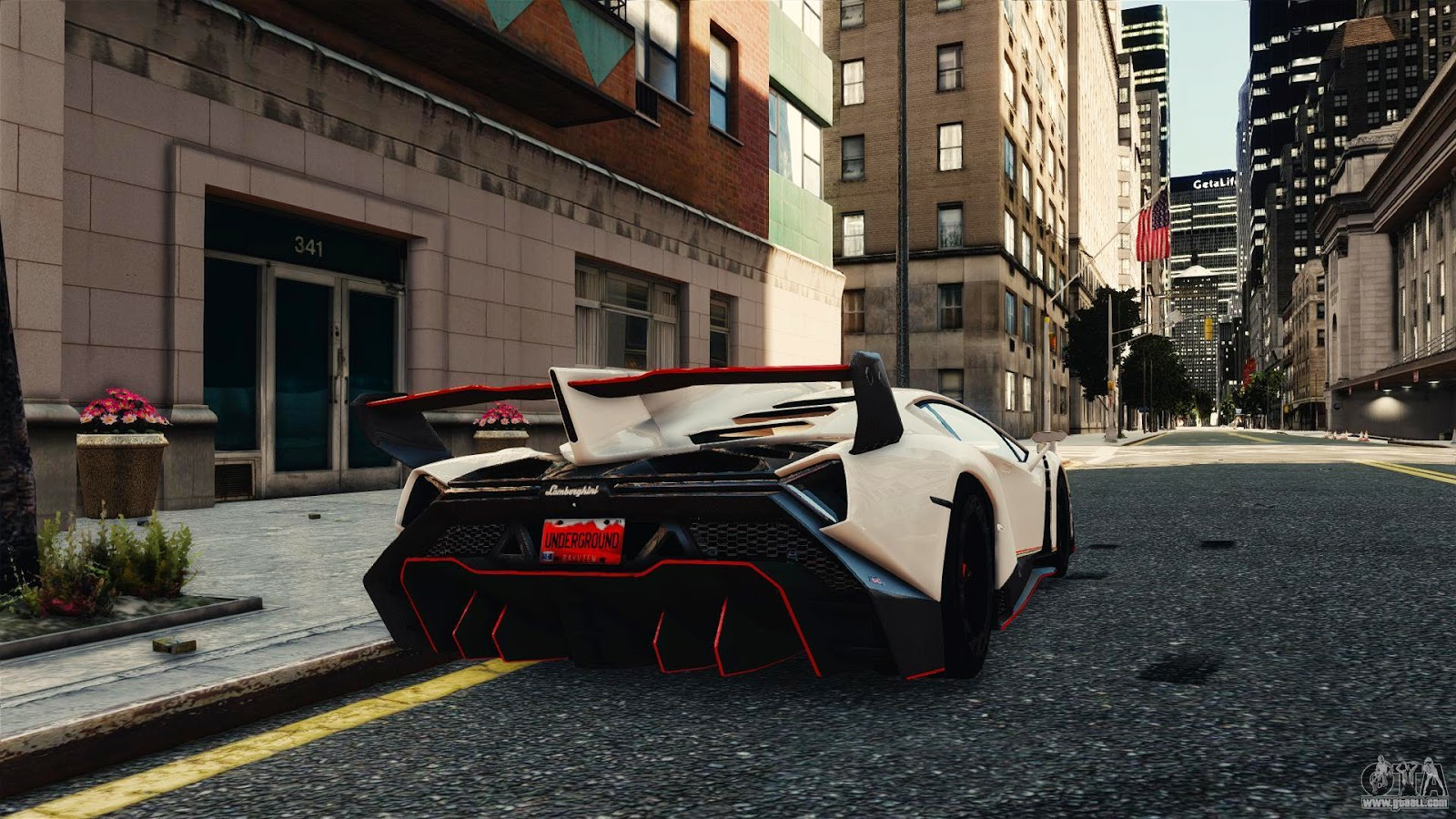lamborghini veneno for gta iv from behind