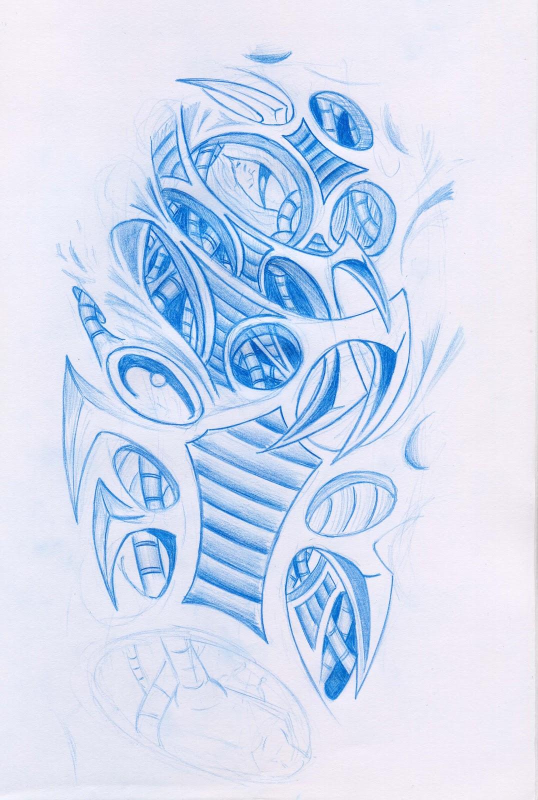 Biomechanical Tattoo Line Drawing : Biomechanical tattoos tukang kritik