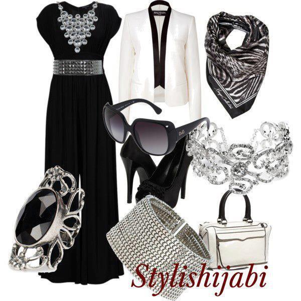 Idée de tenue hijab soirée