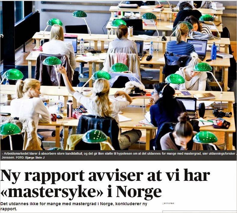 utdanningsnivå i norge