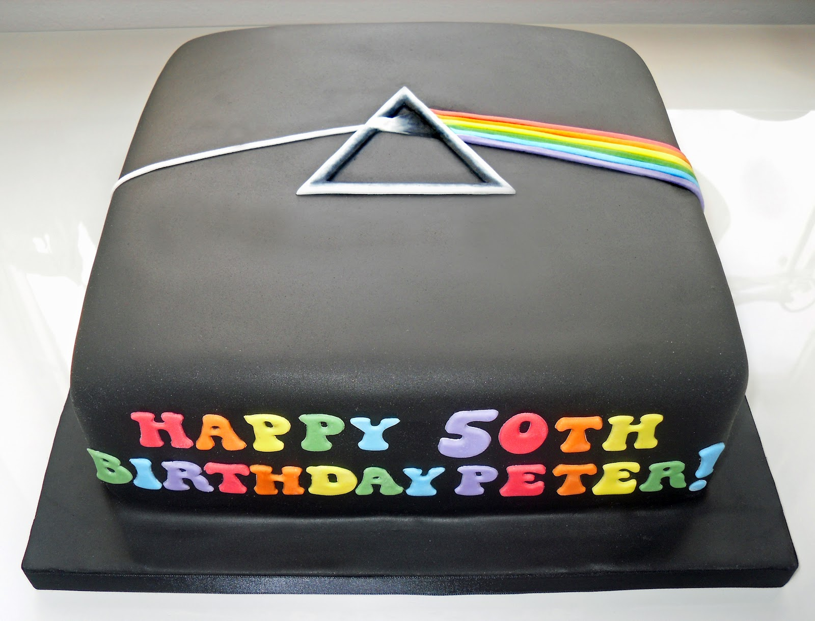 Pink Floyd Cake Images : The Coloured Bubble Cakery: The Dark Side of the Moon