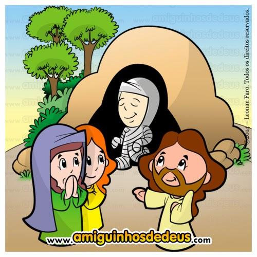 a ressurreição de lázaro desenho