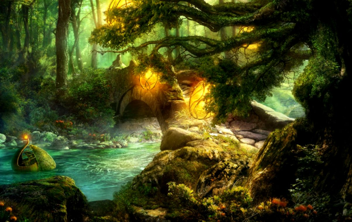 View Original Size Fantasy Forest Wallpaper 1280x800
