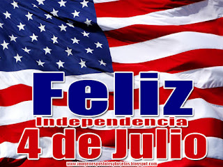 Feliz 4 de Julio Dia de la Independencia USA