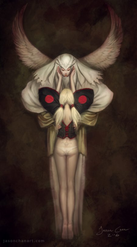 jason chan ilustrações fantasia mulheres sensual