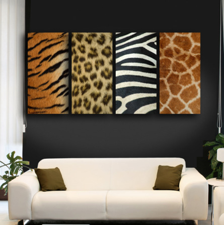 DECORACION DE SALA ANIMAL PRINT by salasycomedores.blogspot.com
