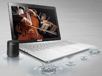 Notebook hiburan layar sentuh dengan empat speaker ASUS N550JK
