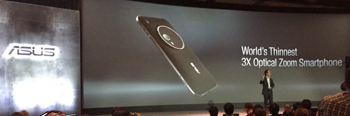 Asus brings optical zoom lens in emphasis while using the Zenfone Glide.