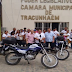Prefeitura de Tracunhaém (PR) entrega motocicletas para trabalho dos Agentes Comunitários de Saúde.