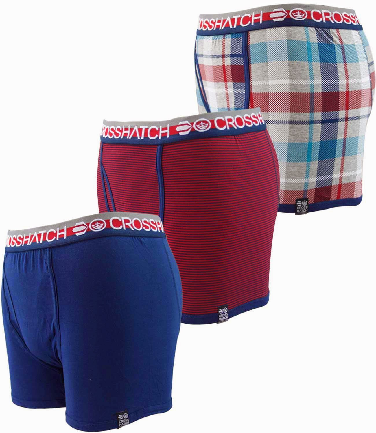 Fashion Mens 3Pack Boxer Shorts Trunks Gift Underwear Cotton Boys Boxers New UK