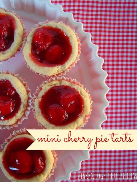 Mini Cherry Pie Tarts with Easy Cream Cheese Pie Crust