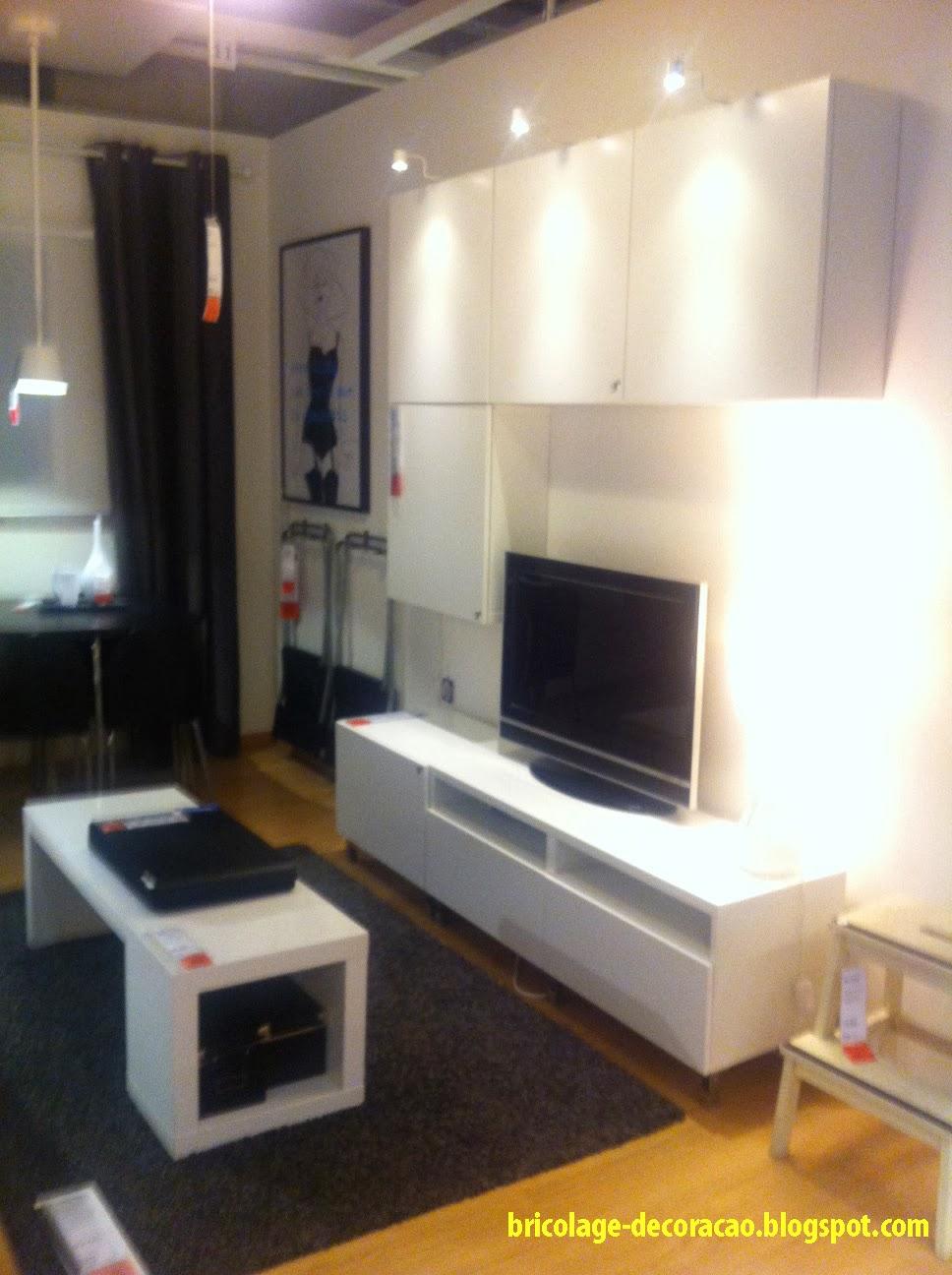 Decoracao Sala De Estar Ikea ~   Sugestão Ikea Como Decorar uma Sala Pequena em Branco e Preto