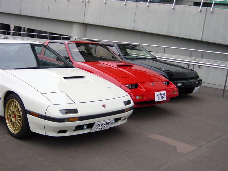 Mazda RX-7 FC, Nissan Fairlady Z, Mitsubishi Starion, samochody z podnoszonymi reflektorami, pop up lights, ciekawe youngtimery
