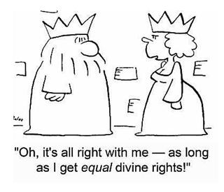 the divine right of kings The divine right of kings, divine right, or god's mandate is a political and religious doctrine of royal and political legitimacy it asserts that a monarch is subject to no earthly.