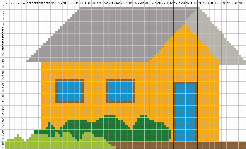pola gambar rumah
