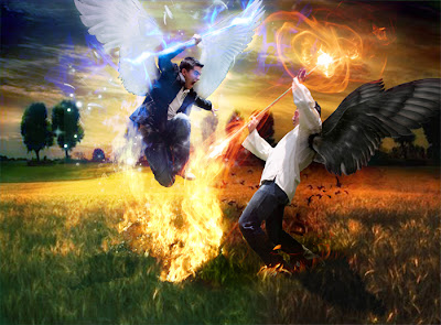 angel-and-demon-fighting-in-the-grass-lands-desktop-background