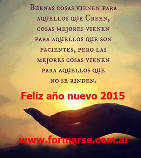 FELIZ 2015 Y BUENOS DESEOS PARA TODOS