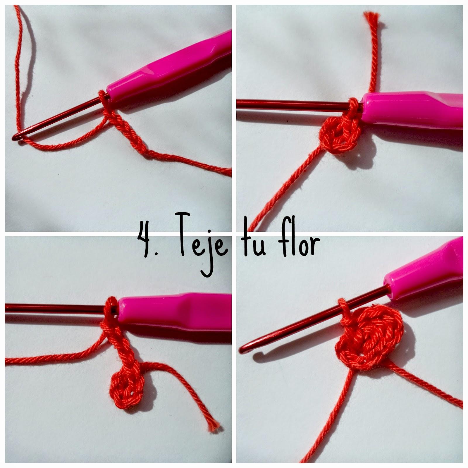 flor fácil de ganchillo