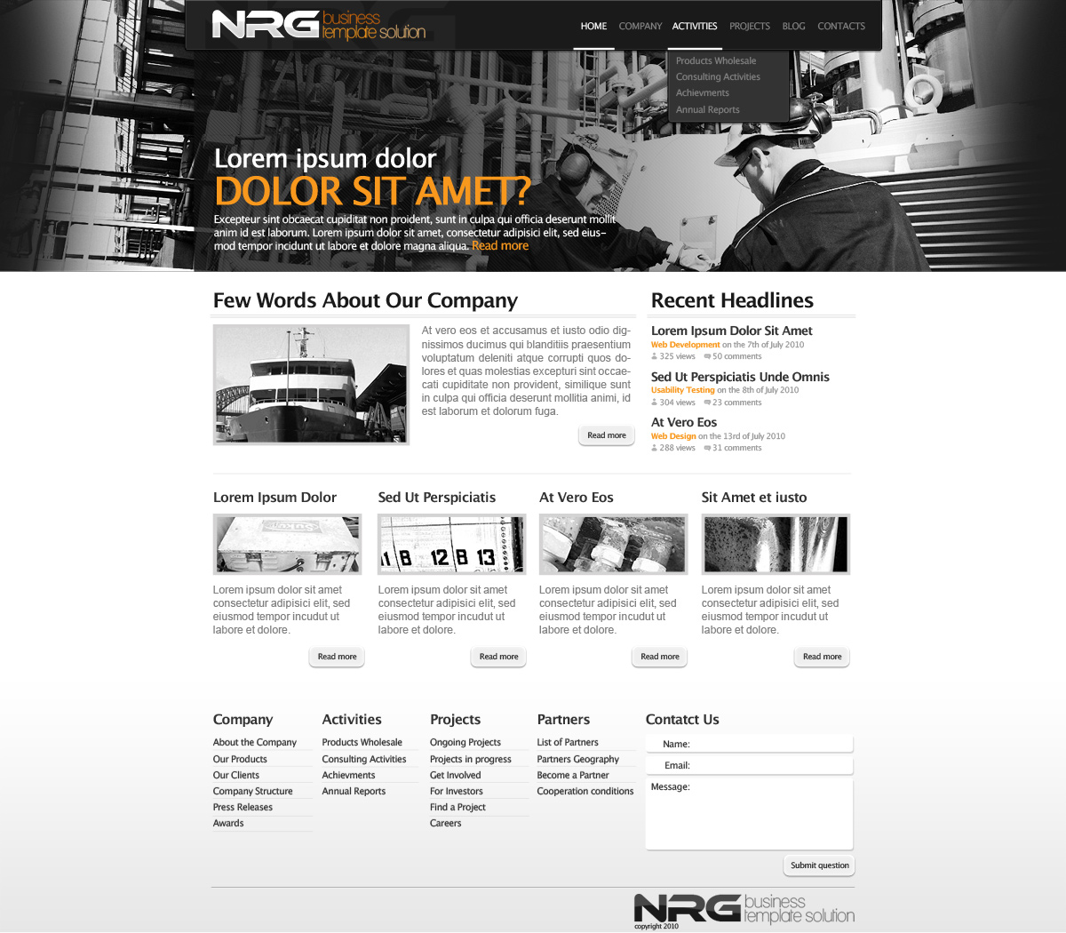 NRG-Business-Premium-Template-Solution