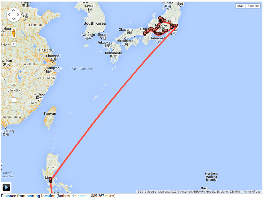 Chicago To Japan Map - Japan map 2015