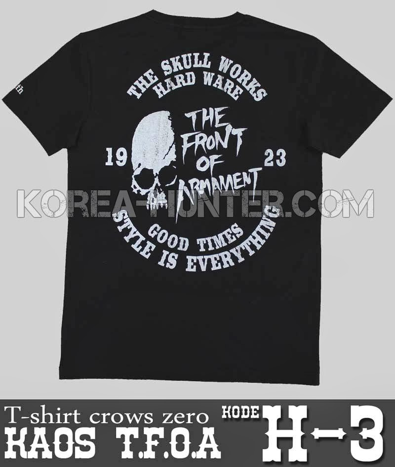 KOREA-HUNTER.com jual murah T-Shirt Crows Zero - TFOA | kaos crows zero tfoa | kemeja national geographic | tas denim korean style blazer