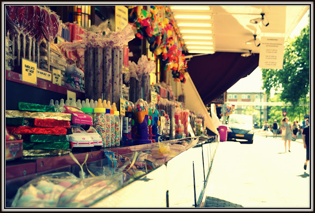 sweets on a street