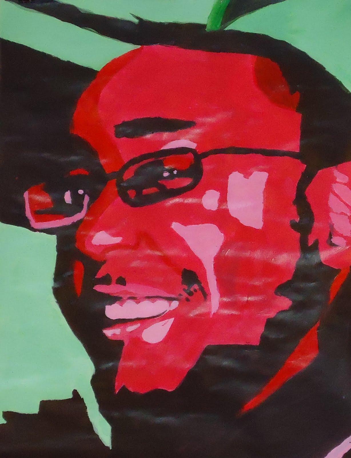 arts for all monochromatic self portraits