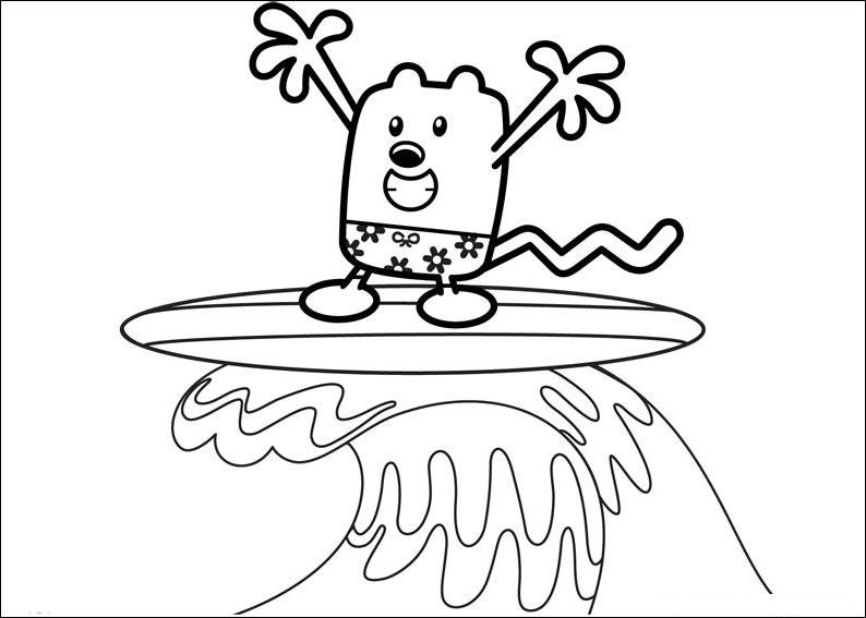 Wow Wow Wubbzy coloring pages title=