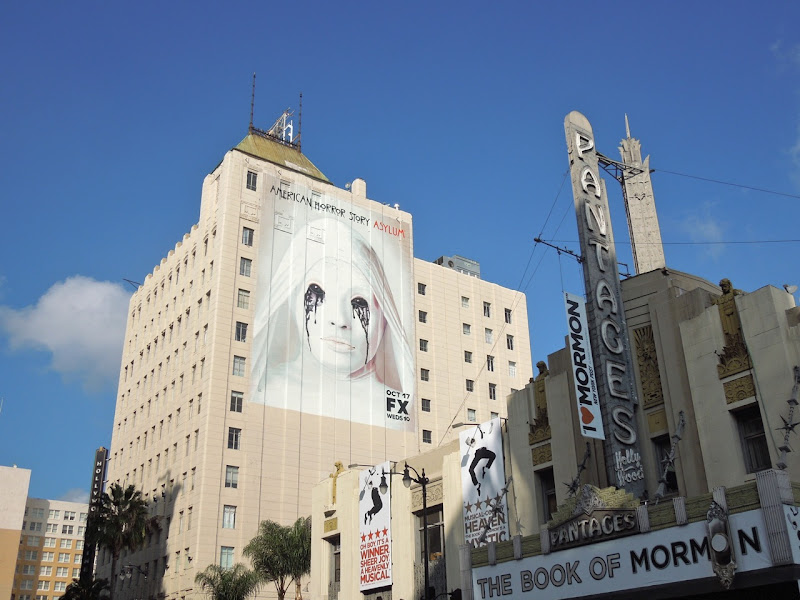 American Horror Story Asylum billboard Hollywood Boulevard