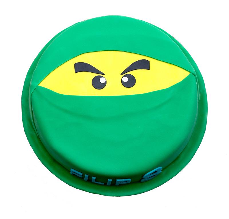 Lego Ninjago green cake top
