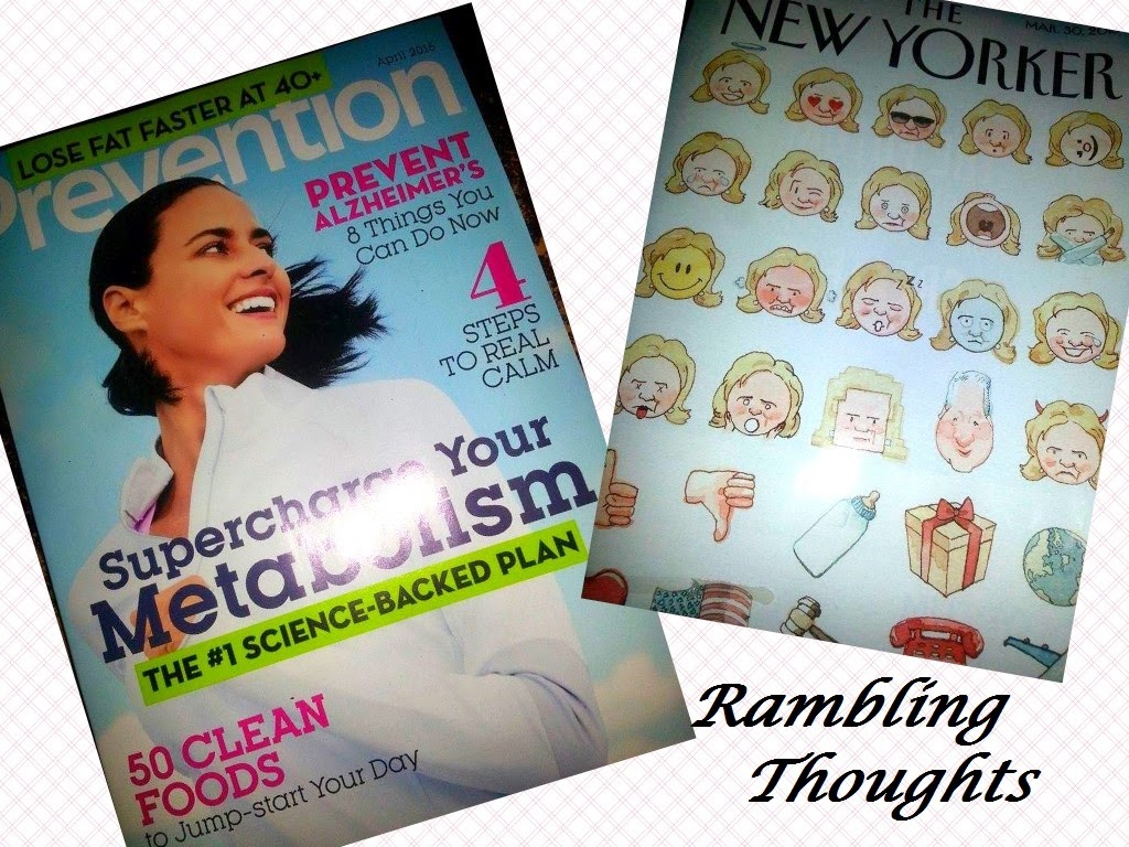 Rambling Thoughts' freebies from the mail: The New Yorker magazine and Prevention magazine