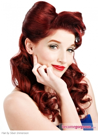 pin up hairstyles for long thin hair images
