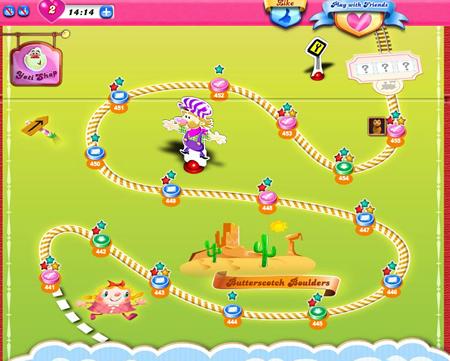 Candy Crush Saga 441-455 ending