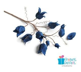 silk bluebells, artificial flowers, faux flowers, handmade flowers