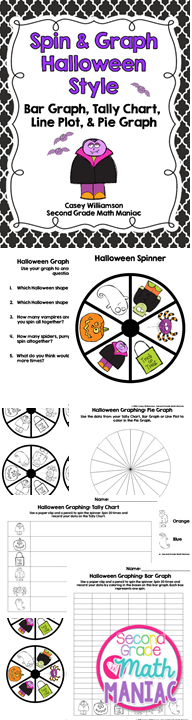 http://www.teacherspayteachers.com/Product/Spin-Graph-Halloween-Style-Bar-Graph-Tally-Chart-Line-Plot-Pie-Graph-1443483