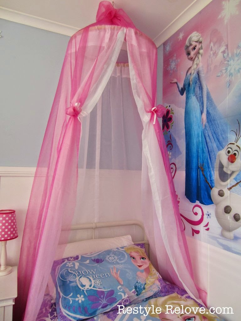 A New Bed And DIY Bed Canopy For My Frozen Princess