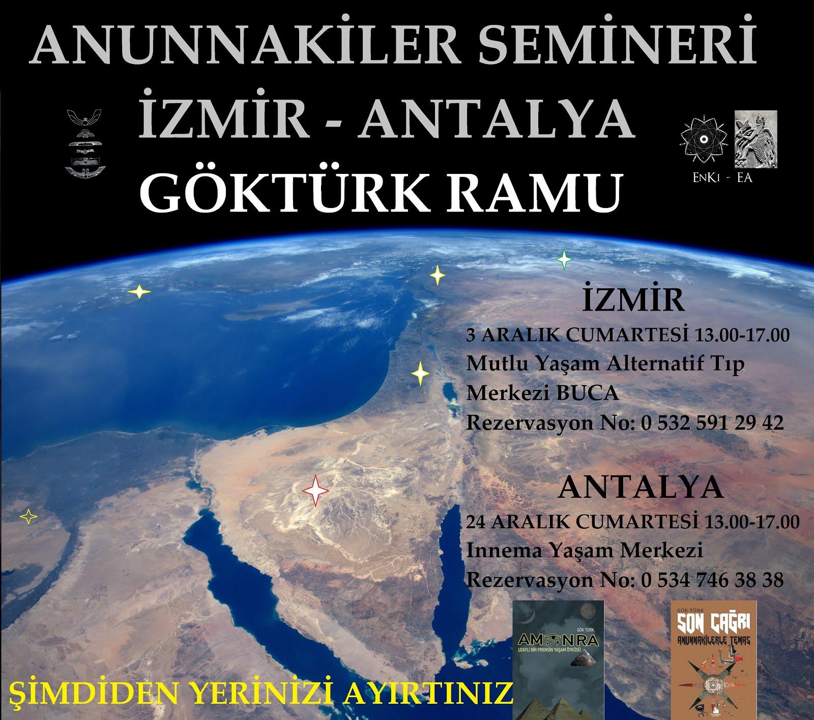3 Aralıkta İzmirde, 24 Aralıkta Antalyadayız