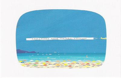 """Avion avec banderole au-dessus de la plage : """"REBRANCHEZ VOTRE PORTABLE, BOUCHARD !"""" (Voutch)"""