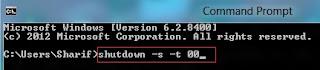 Shutdown Command Line