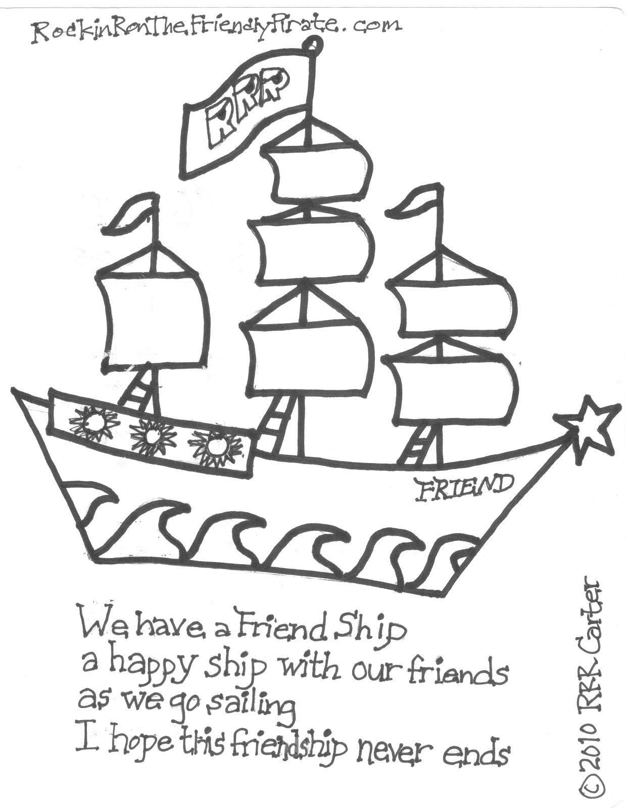 avast ye pirates friend ship