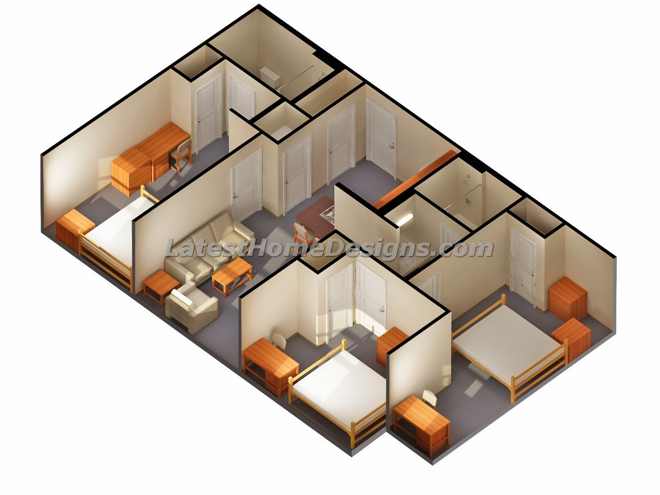 25 genius 2 bedrooms 2 bathrooms house plans 41382 for Individual house plans