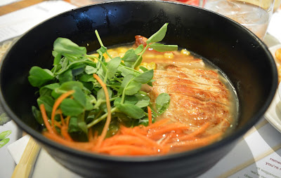 mini chicken ramen, children's menu at Wagamama
