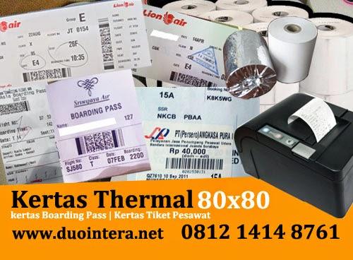 Kertas Thermal Jakarta, Kertas Tiket thermal, Kertas Thermal 80 x 80 , Kertas Tiket Pesawat, Kertas Boarding Pass