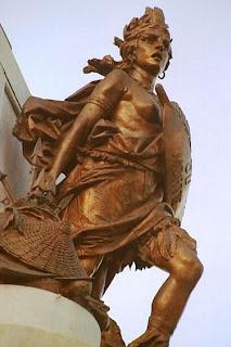 Maria Quitéria - detalhe do Monumento ao Dois de Julho na Praça do Campo Grande, Salvador