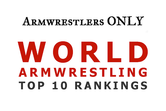 ARMWRESTLING WORLD RANKING TOP 10 as at 29/10/2018